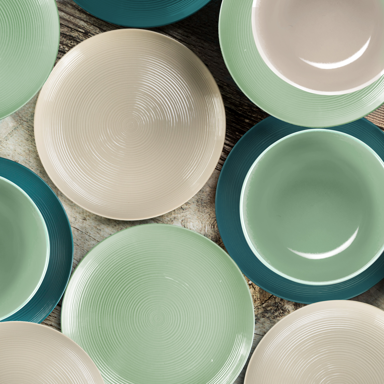 American Conventional Plate & Bowl Sets, Sage, 12-piece set slideshow image 10