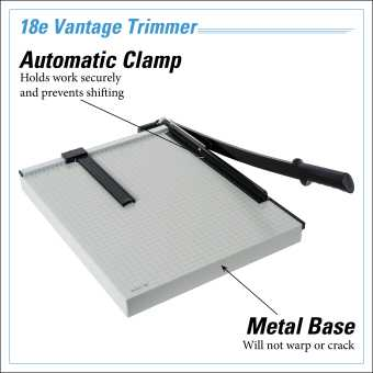 Dahle Vantage® 18e Trimmer InfoGraphic - Metal Base