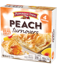 (12.5 ounces) Pepperidge Farm® Peach Turnovers, prepared according to package directions