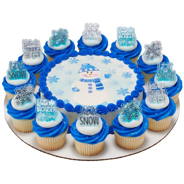 Friendly Snowman PhotoCake® Edible Image®