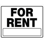 For Rent Sign With Frame
