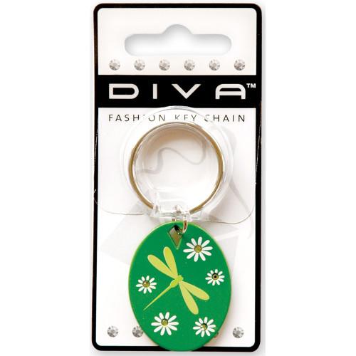 Dragonfly Green Key Chain