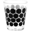 Dot Dot 15 ounce Old-Fashion Glass, Black, 6-piece set slideshow image 6
