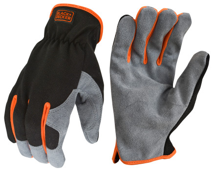 BLACK+DECKER BD526 Performance Leather Hybrid Work Glove