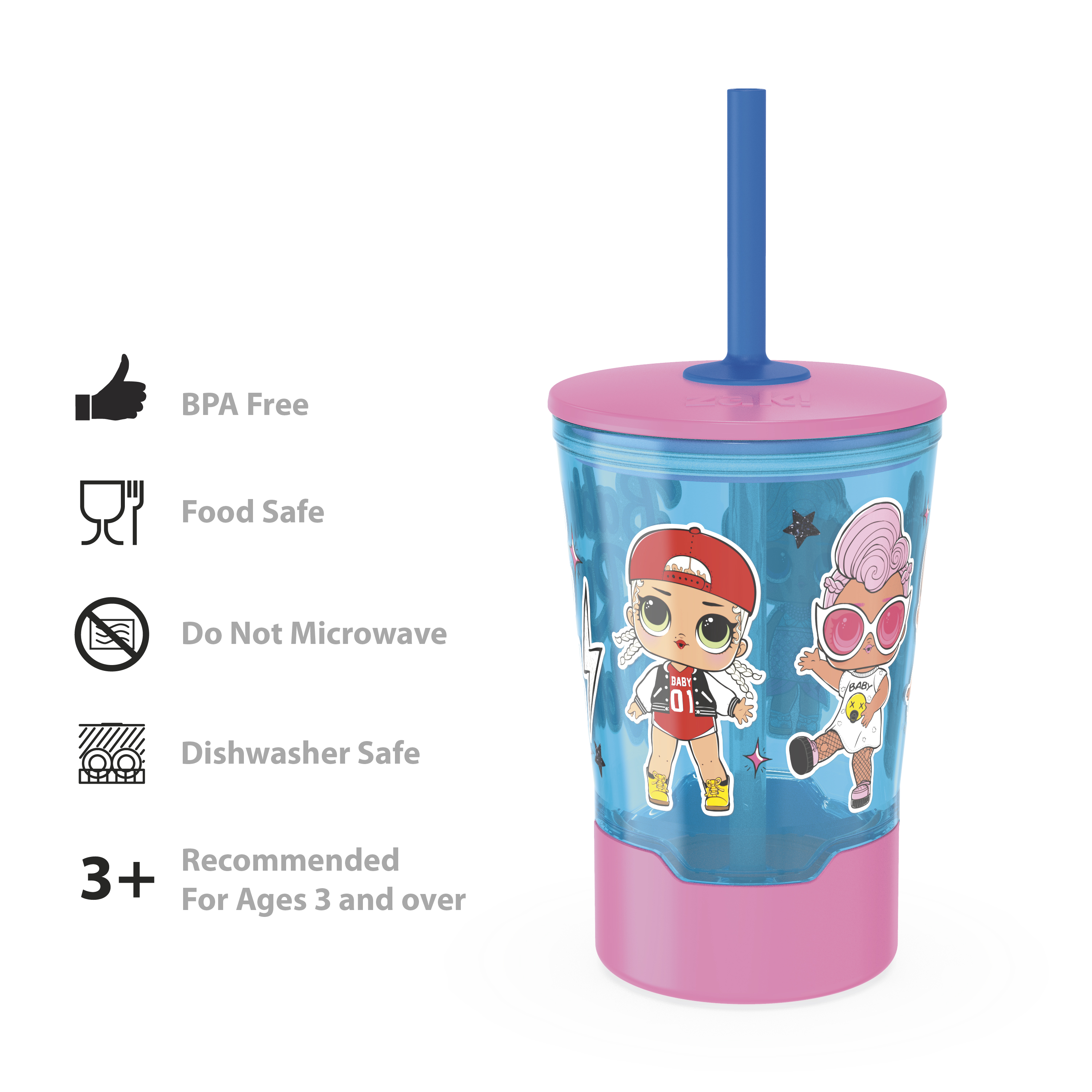 LOL Surprise 16 ounce Mighty Mug Tumbler with Straw, Babies Run the World slideshow image 8