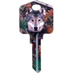 Deep Woods- Wolf Blank Key