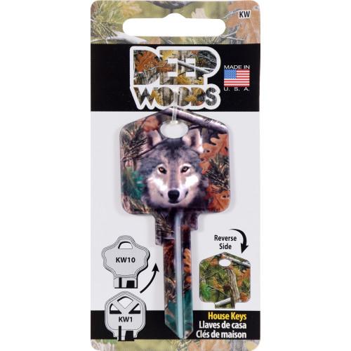 Deep Woods Wolf Key Blank Kwikset 66/97 KW1/10
