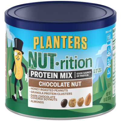Planters NUT-rition Chocolate Nut Protein Mix 10 oz Canister