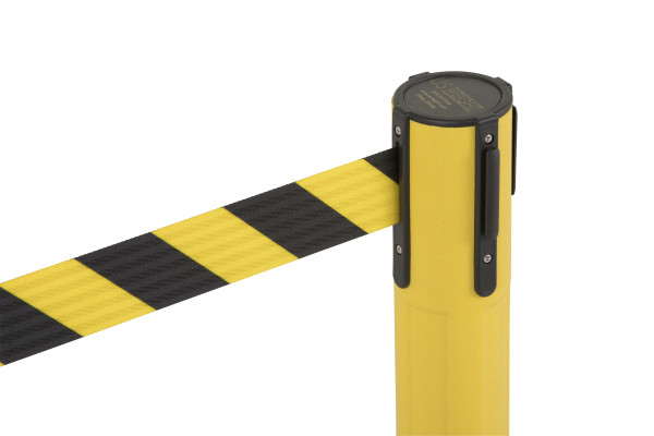 Sentry Stanchion - Yellow with Chevron belt 4