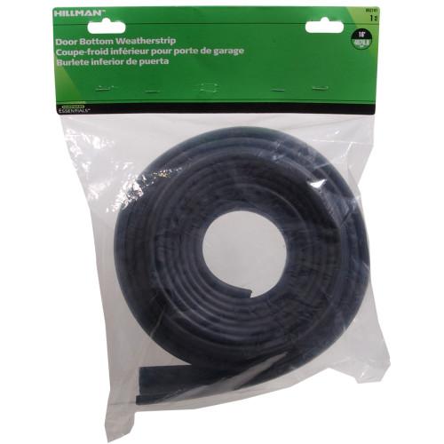 Hardware Essentials Black Vinyl Bottom Weather-stripping 16ft