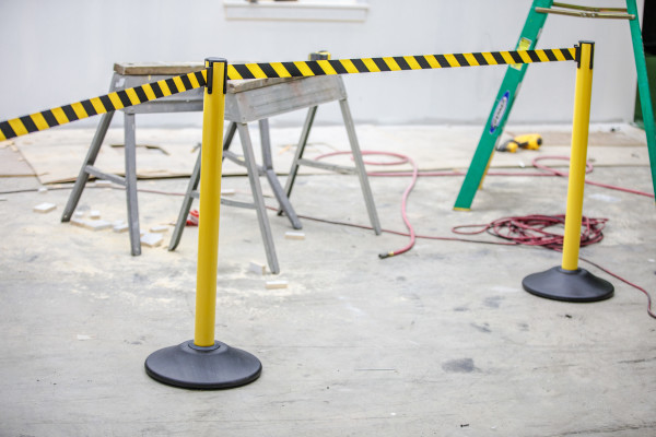 Premium Steel Stanchion - Yellow with CYB belt 9