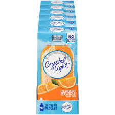 Crystal Light On-The-Go Classic Orange Drink Mix, 10 Packets (Pack of 6)
