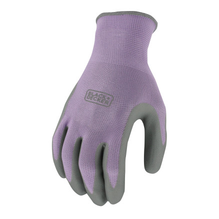 BLACK+DECKER BD511 Purple Ladies Foam Nitrile Grip Glove