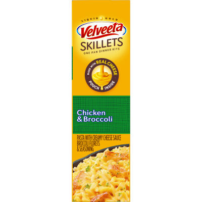 Velveeta Cheesy Skillets Chicken & Broccoli Dinner Kit, 13.6 oz Box