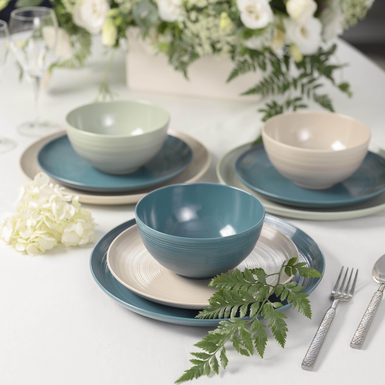 American Conventional Plate & Bowl Sets, Sage, 12-piece set slideshow image 5