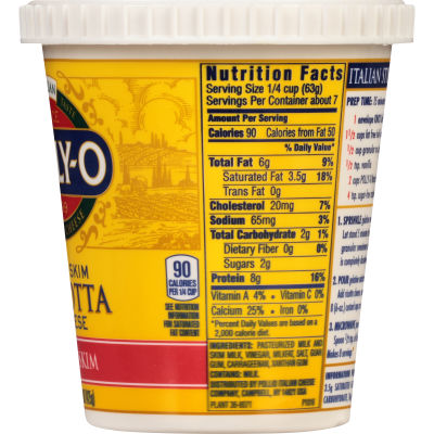 Polly-O Part Skim Ricotta Cheese 15 oz Tub