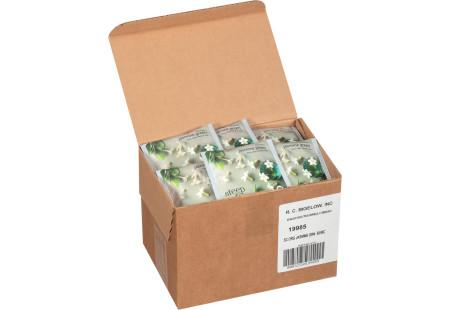 steep cafe by Bigelow organic full leaf jasmine green tea pyramid bag in overwrap