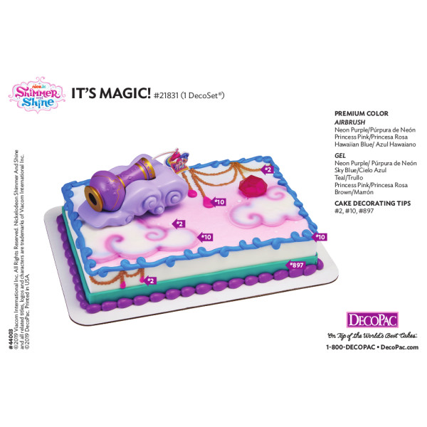 Shimmer and Shine™ It's Magic! Cake Decorating Instruction Card