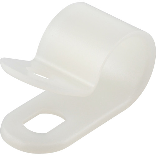 Natural White Nylon Cable Clamp (3/8