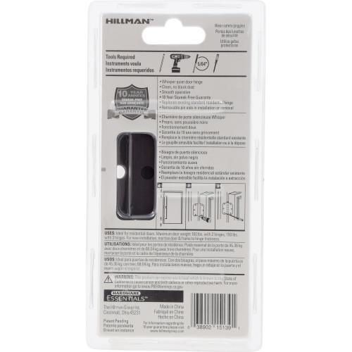 Hardware Essentials Squeak-Proof Square Corner Oil Rubbed Bronze Door Hinges (3-1/2