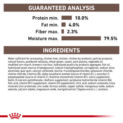 Royal Canin Veterinary Diet Feline Gastrointestinal Kitten Ultra Soft Mousse in Sauce Canned Cat Food