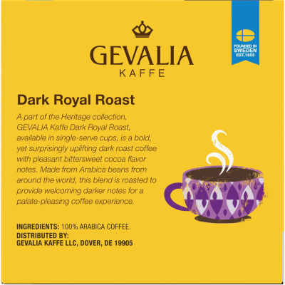 Gevalia Dark Royal Roast Coffee K-Cup Pods, 12 count