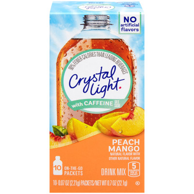 Crystal Light On-The-Go Sugar-Free Powdered Peach Mango Drink Mix 0.07 oz Wrapper