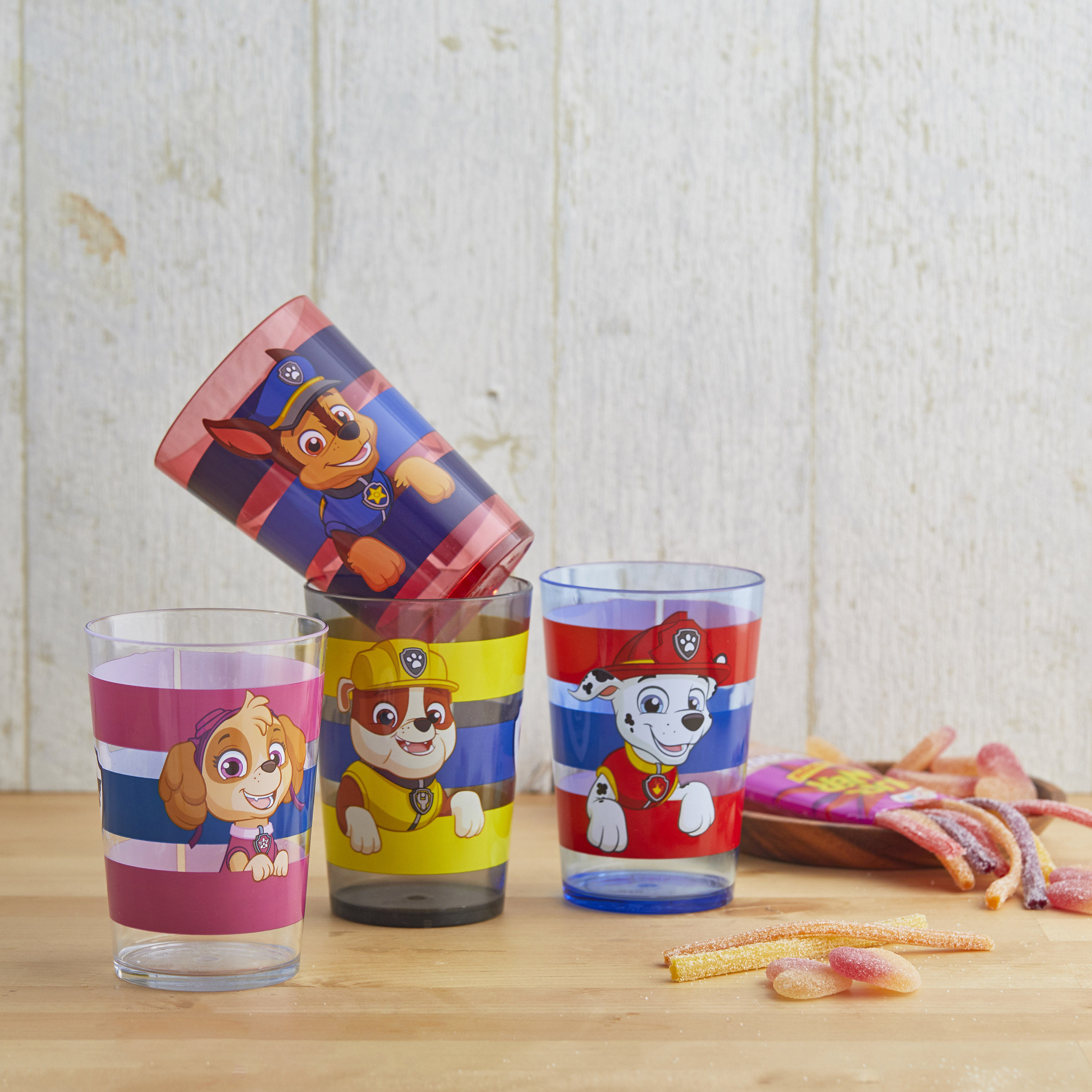 Paw Patrol 14.5 ounce Tumbler, Chase, Skye and Friends, 4-piece set slideshow image 5