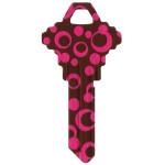 WacKey Pink Polkadot Key Blank