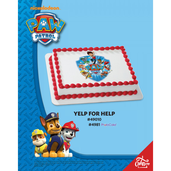 PAW Patrol™ Yelp for Help PhotoCake®/Edible Image® The Magic of Cakes® Page