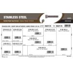 "Stainless Steel Socket-Head Cap Screws Assortment (5/16""-18 Thread)"