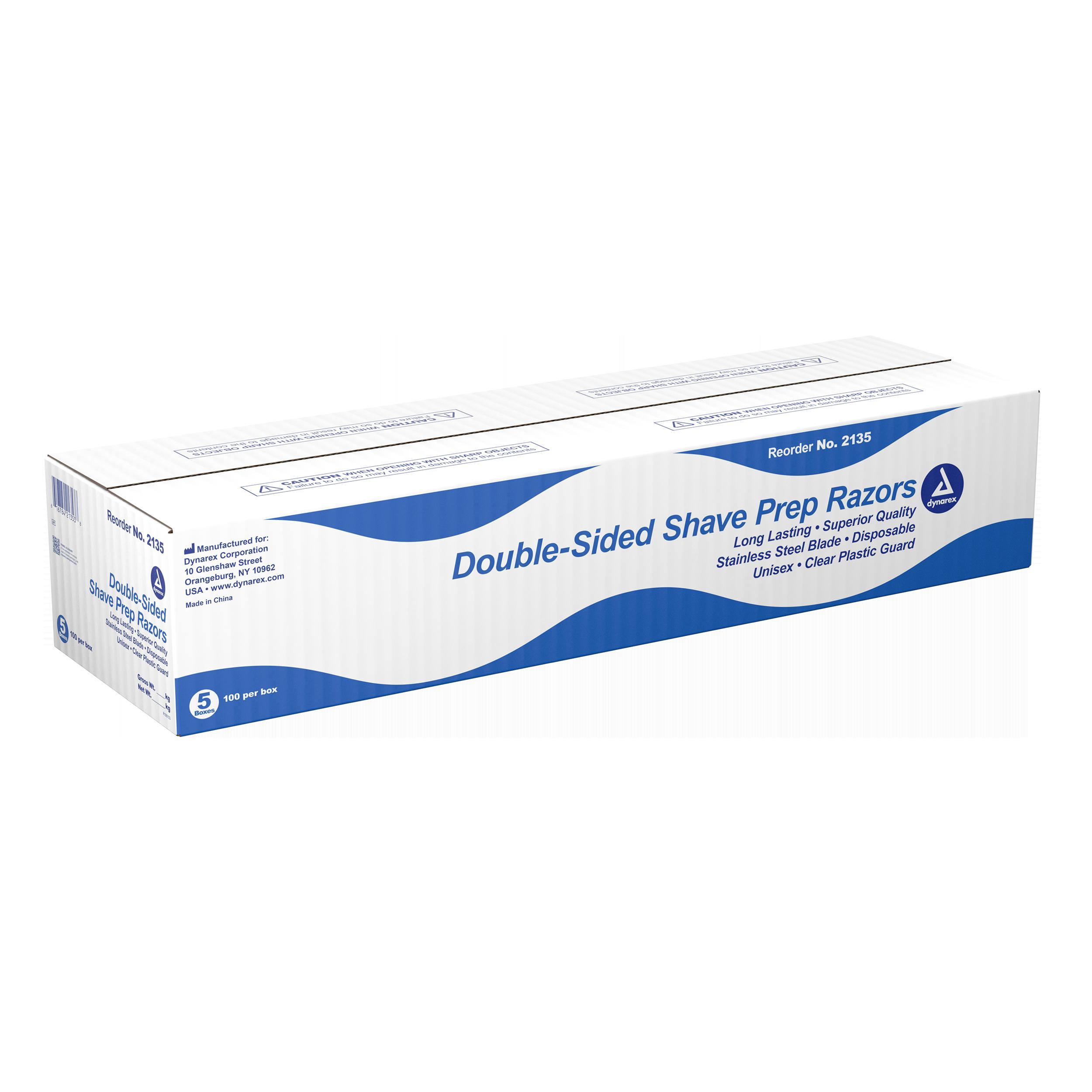 Double Sided Shave Prep Razors - 5/100/Cs