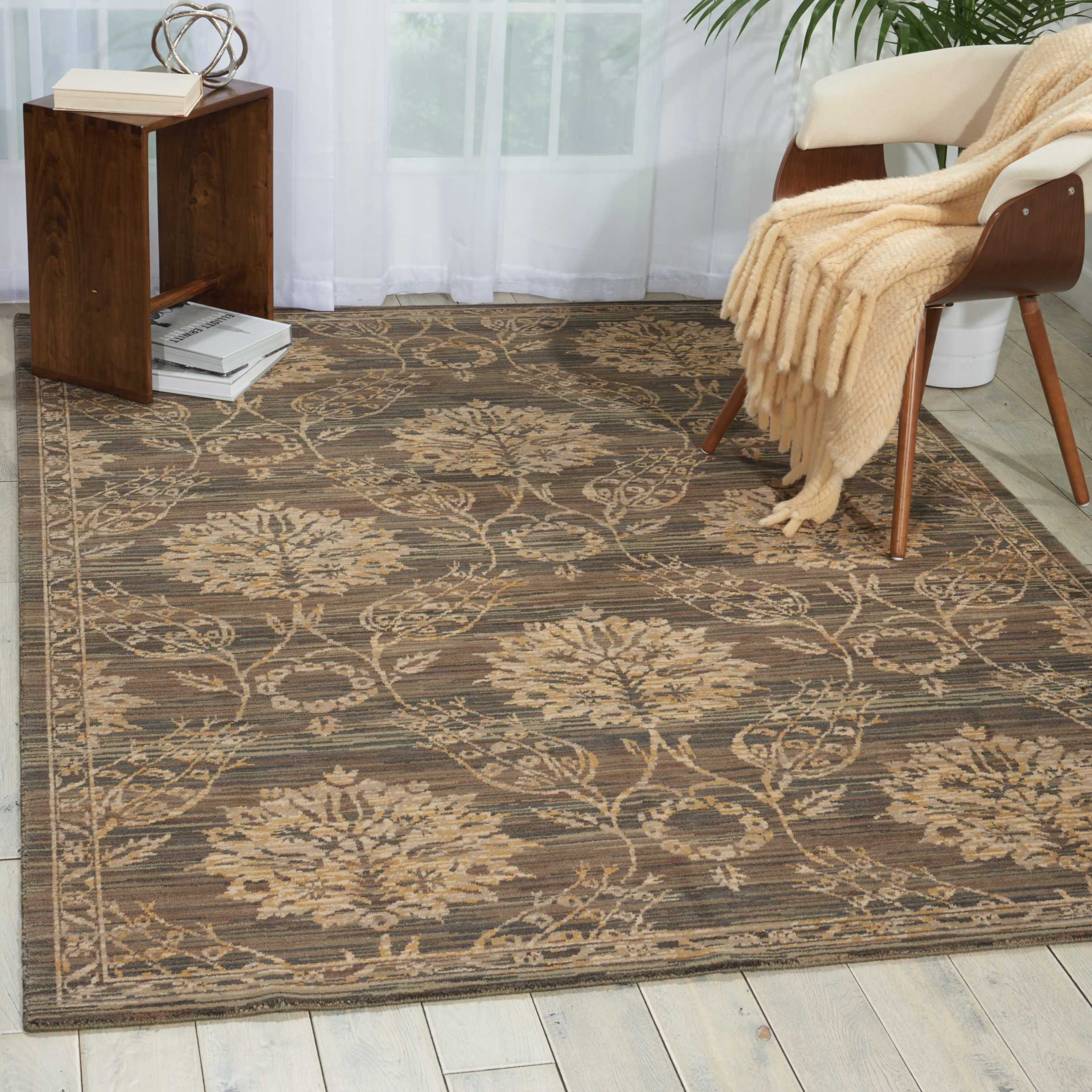 Nourison Silk Elements SKE31 Graphite Rug