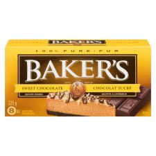 Baker's 100% Pure Sweet Chocolate Baking Bar