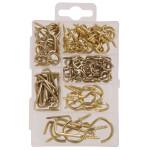 Hardware Essentials Small Brass Screw Eye Kit 121 Piece
