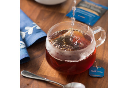 Lifestyle image of a cup of Bigelow English Teatime tea
