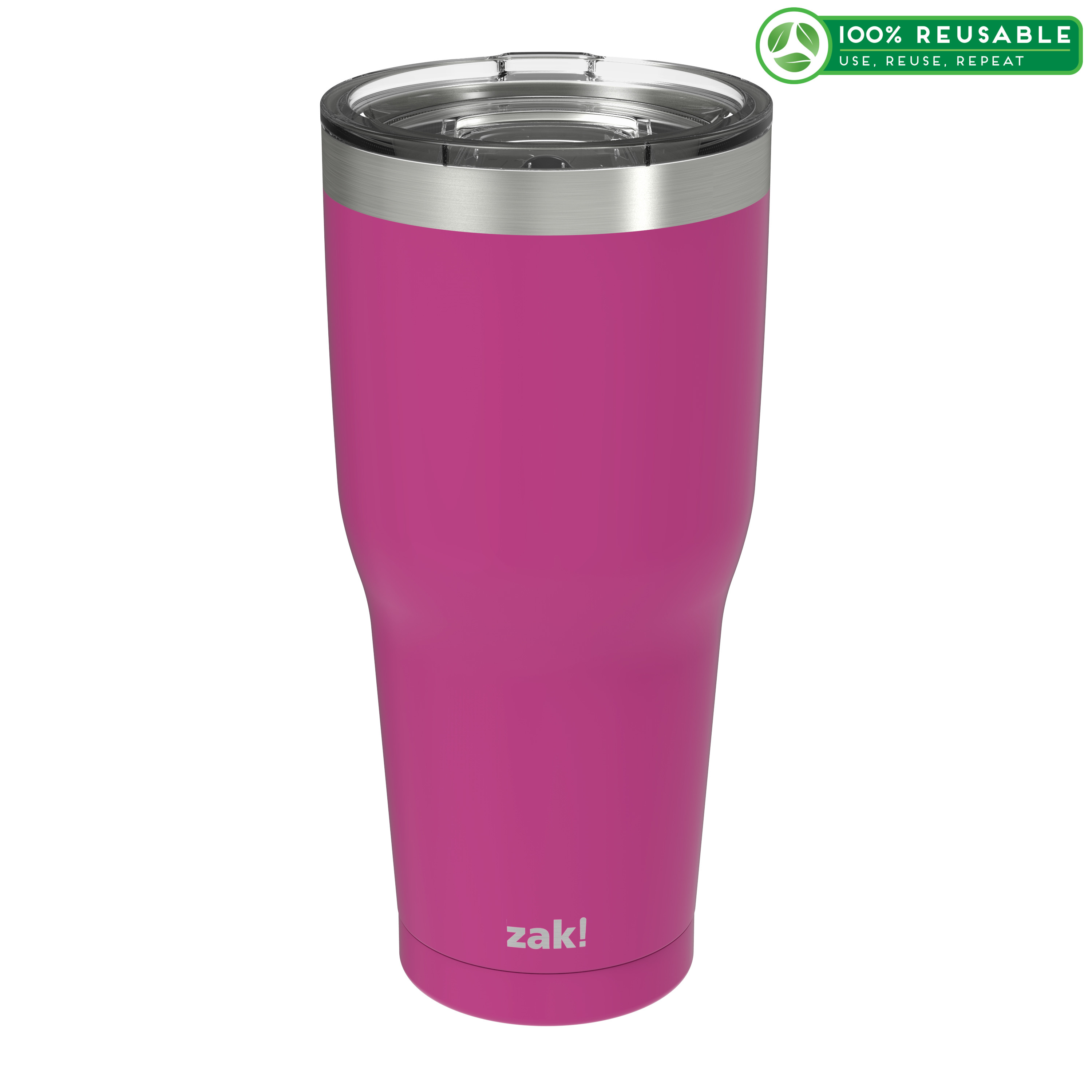 Zak Hydration 30 ounce Vacuum Insulated Stainless Steel Tumbler, Peony slideshow image 1