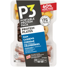 Oscar Mayer P3 Ham, Cashews, Cheddar, & Cranberries Portable Protein Pack 3.2 oz Tray