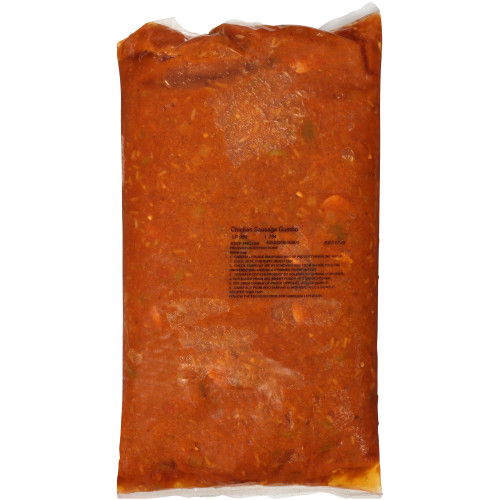 HEINZ CHEF FRANCISCO Cajun Chicken & Sausage Gumbo Soup, 8 lb. Bag (Pack of 4)