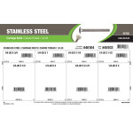 "Stainless Steel Carriage Bolts Assortment (1/4""-20 Coarse Thread)"