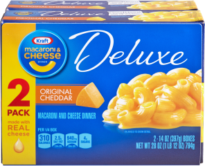 KRAFT Original Deluxe Macaroni & Cheese Dinner 28 oz Wrapped image