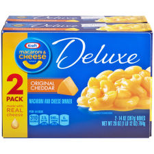 Kraft Deluxe Original Cheddar Macaroni & Cheese Dinner 2 - 14 oz Boxes