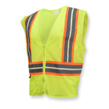 Radians SV22GL-2 Economy Type R Class 2 Safety Glow Vest with Two-Tone Trim