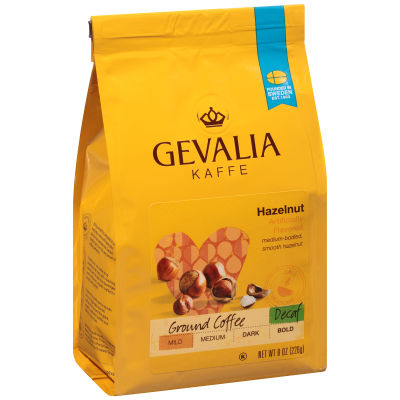 Gevalia Hazelnut Decaf Ground Coffee 8 oz Bag