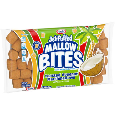 Kraft Jet-Puffed Mallow Bites Toasted Coconut Flavored Marshmallows 8 oz Wrapper