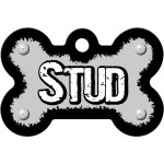 Stud Gray Large Bone Quick-Tag
