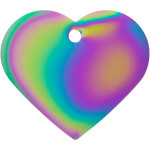 Rainbow Large Heart Quick-Tag