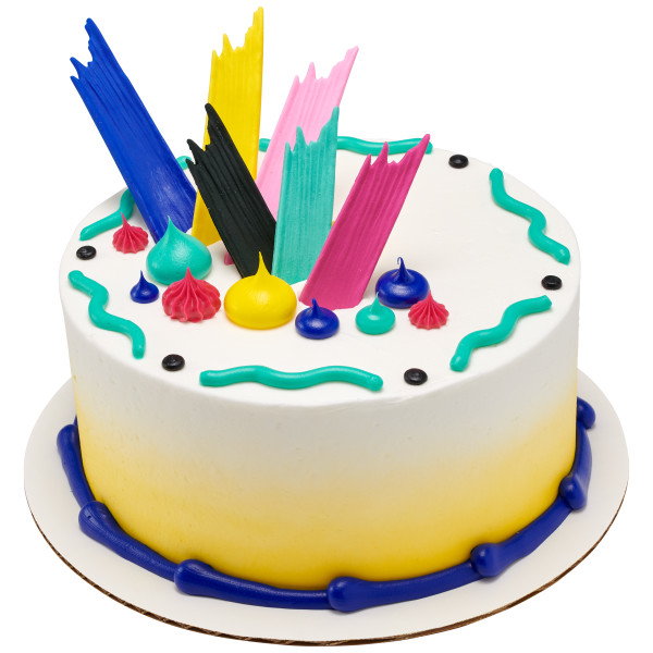 Bright Brushstrokes Sweet Décor™ Edible Decorations