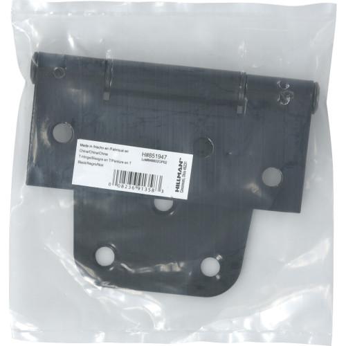 Builders Hardware Black Heavy Duty T-Hinges 3-1/2