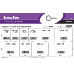 """Zinc-Plated Screw Eyes Assortment (1/8"""" Thru 13/16"""" Inner Diameter)"""